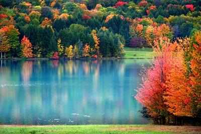 Scenic autumn landscape in Pennsylvania